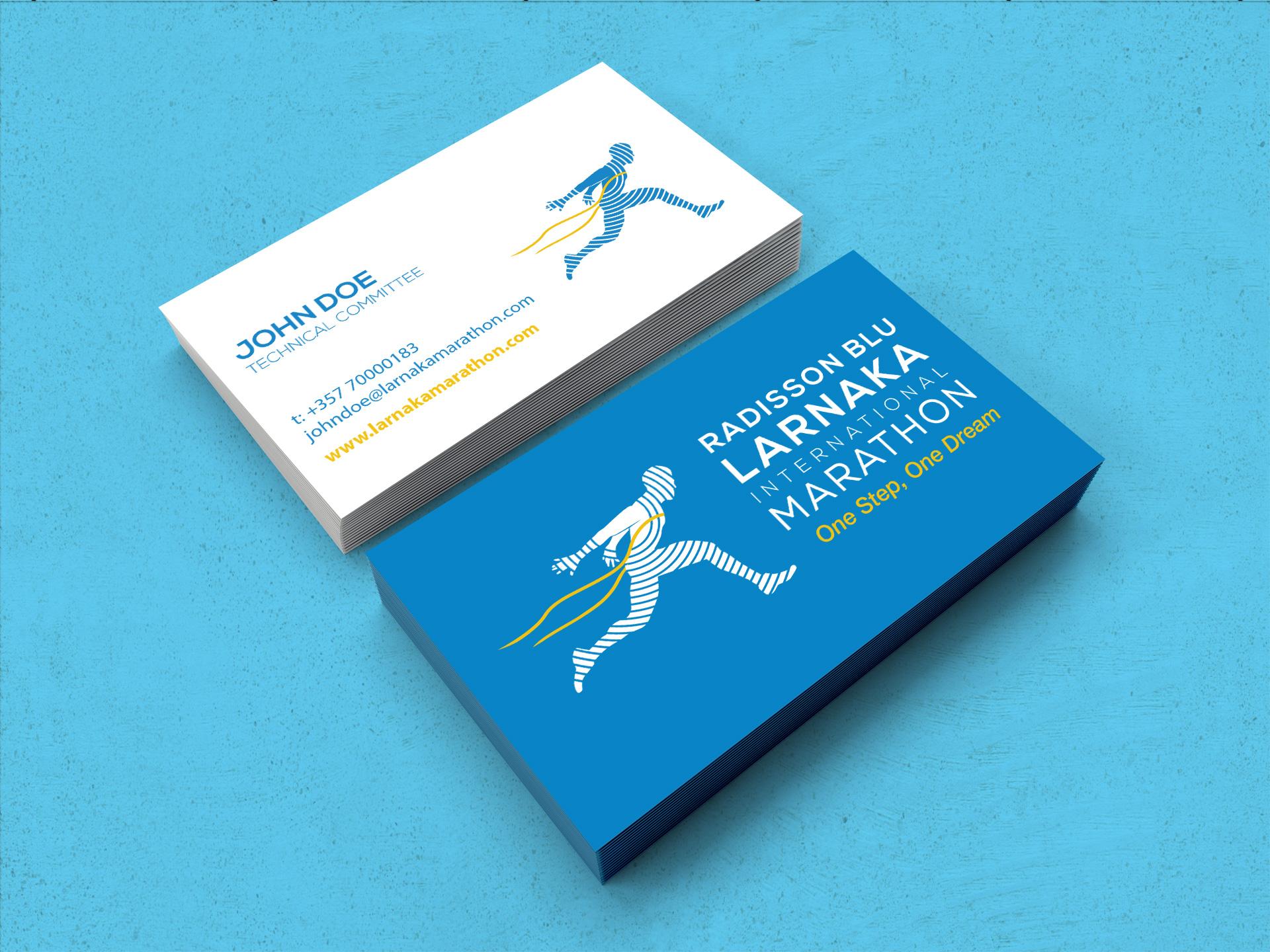 Larnaka International Marathon Business Cards